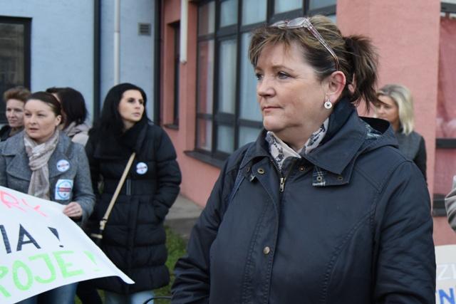 Na snímke prezidentka Slovenskej komory sestier a pôrodných asistentiek Iveta Lazorová