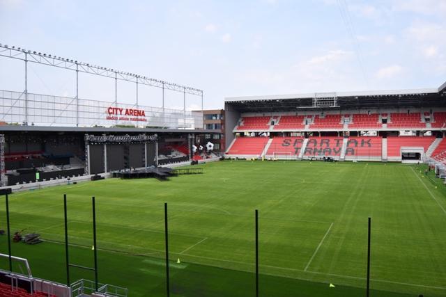 Na snímke nová futbalová City Arena – Štadióna Antona Malatinského