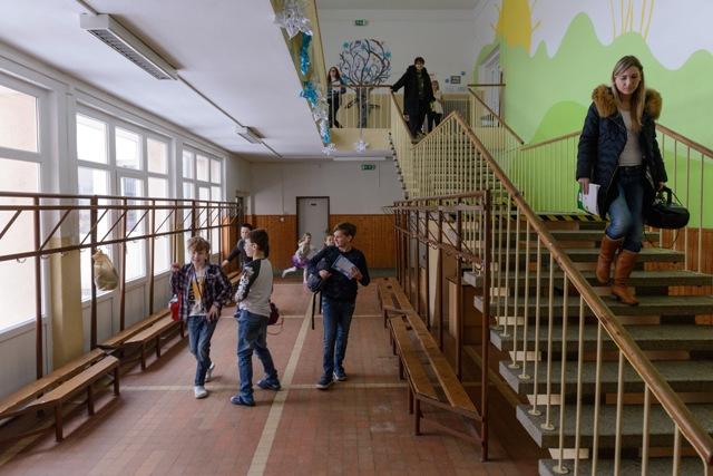 Na snímke Základná škola Nábrežie mládeže v Nitre, ktorá sa nepripojila k štrajku