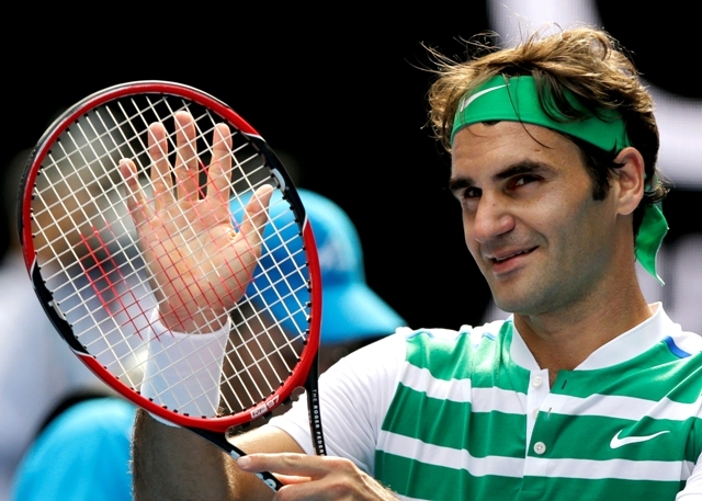 Na snímke Švajčiar Roger Federer