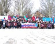 Ramzana Kadyrova podporujú aj na Donbase: Noční vlci zorganizovali míting na jeho podporu