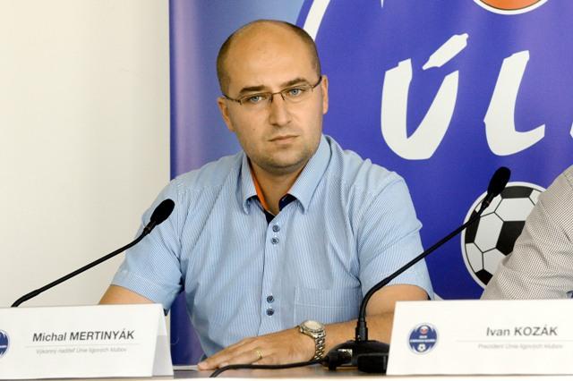Na snímke výkonný riaditeľ Únie ligových klubov (ÚLK) Michal Mertinyák