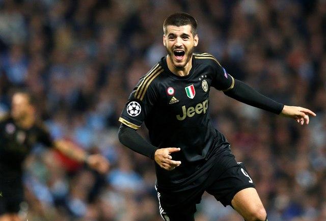 Na snímke futbalista Juventusu Alvaro Morata