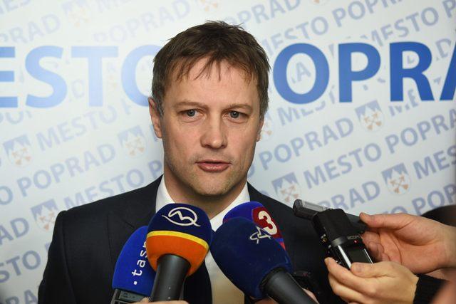 Na snímke konateľ a výkonný riaditeľ hokejového klubu HK ŠKP Poprad Peter Žifčák