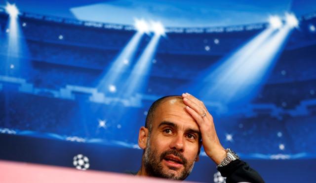 Na snímke tréner Bayernu Mníchov Pep Guardiola