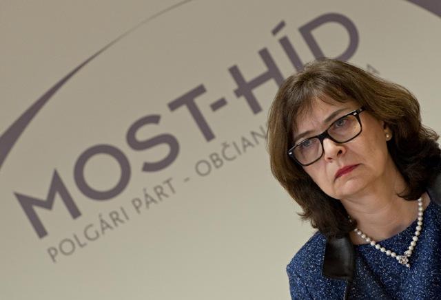 Na snímke podpredsedníčka strany Most-Híd Lucia Žitňanská
