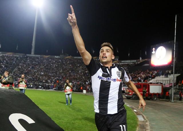 Na snímke slovenský futbalový reprezentant Róbert Mak z PAOK Solún