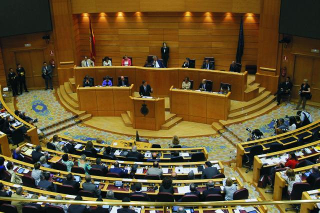 Na archívnej snímke zasadanie španielskeho parlamentu