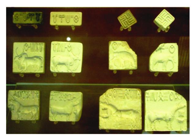 Pečatidlá  harappských rodov. Kultúra Harappa