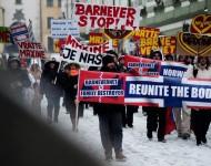 Protest proti Barnevernetu v Bratislave.