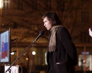 """V Bratislave sa uskutočnilo protestné zhromaždenie """"Za mier, proti základniam cudzích vojsk na našom území a za vystúpenie z NATO"""""""
