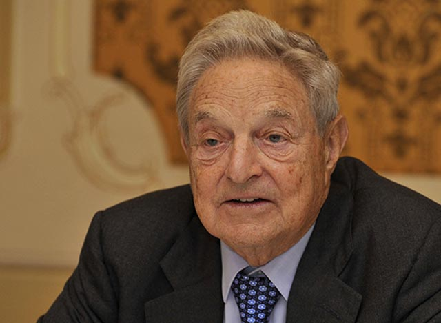 Na snímke spisovateľ filozof ekonóm filantrop George Soros.