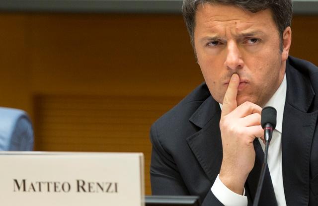 Na snímke taliansky premiér Matteo Renzi