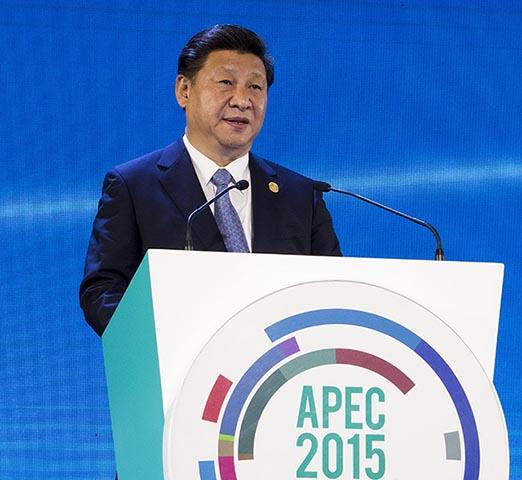 - Na snímke čínsky prezident Si Ťin-pching
