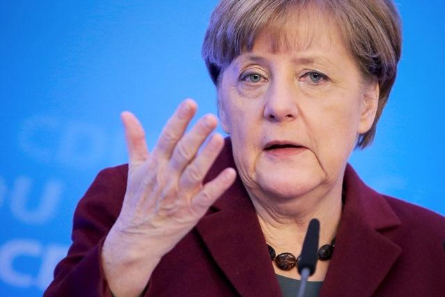 Na snímke nemecká kancelárka a šéfka Kresťanskodemokratickej únie (CDU) Angela Merkelová
