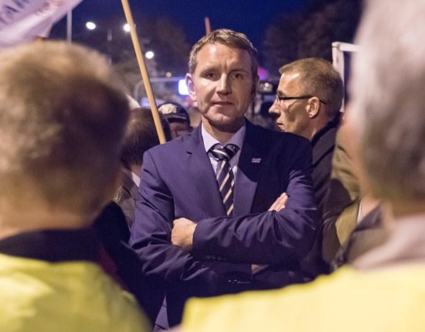 Na snímke šéf strany Alternatíva pre Nemecko (AfD) Börn Höcke