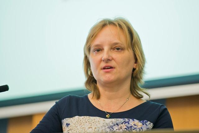 Na snímke vedecká riaditeľka Ústavu experimentálnej onkológie BMC SAV Lucia Kučerová