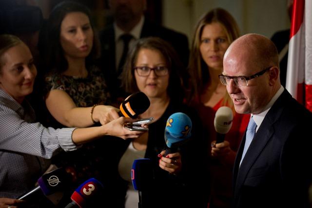 Na snímke český premiér Bohuslav Sobotka