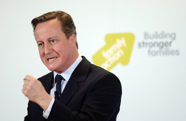 Na snímke britský premiér David Cameron