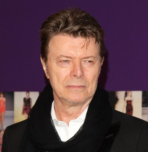 Na snímke David Bowie