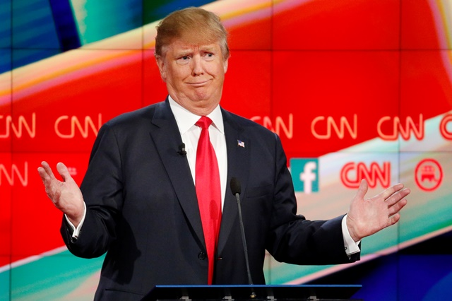 Na snímke republikánsky prezidentský kandidát Donald Trump