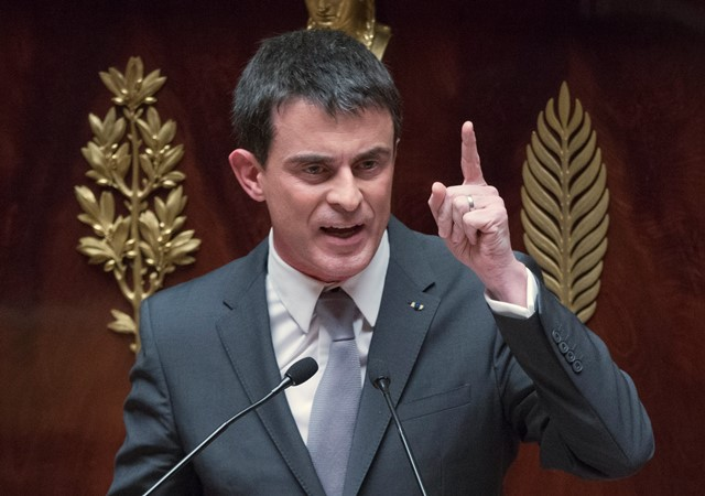 Na snímke francúzsky premiér Manuel Vall