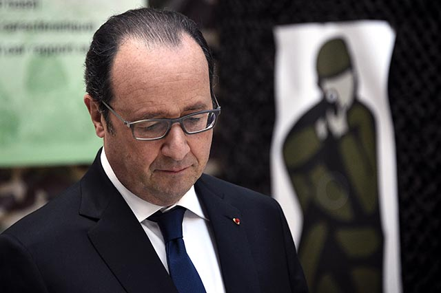 Na snímke francúzsky prezident Francois Hollande.