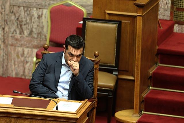 Na snímke grécky premiér Alexis Tsipras.