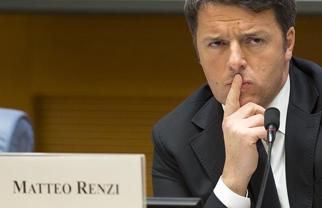 Na snímke taliansky premiér Matteo Renzi.