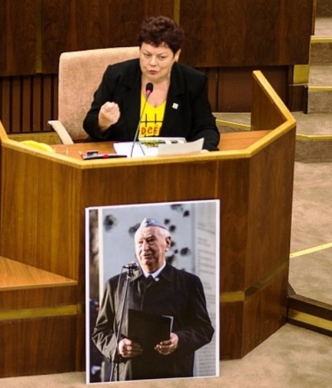 Na snímke poslankyňa NR SR Janka Šípošová (OĽaNO)