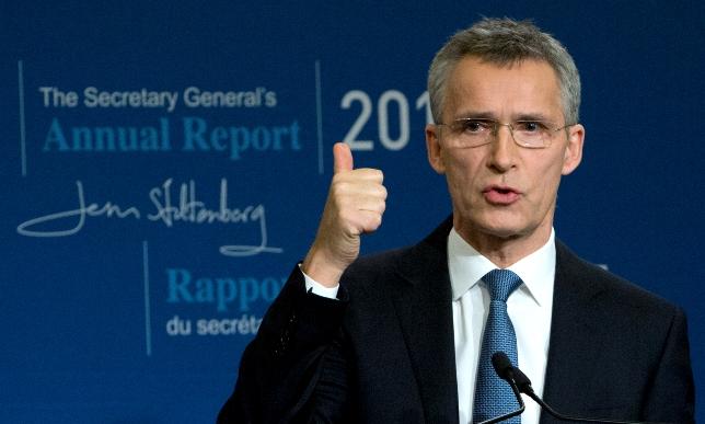 Na snímke generálny tajomník NATO Jens Stoltenberg