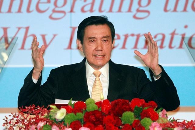 Na sníme taiwanský prezident Ma Jing-ťiou