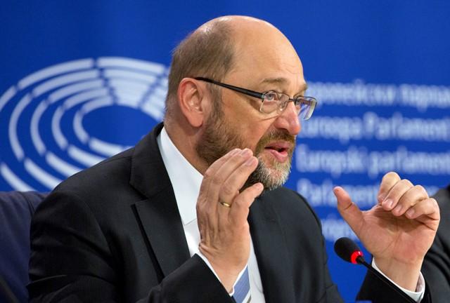 Na snímke predseda Európskeho parlamentu Martin Schulz