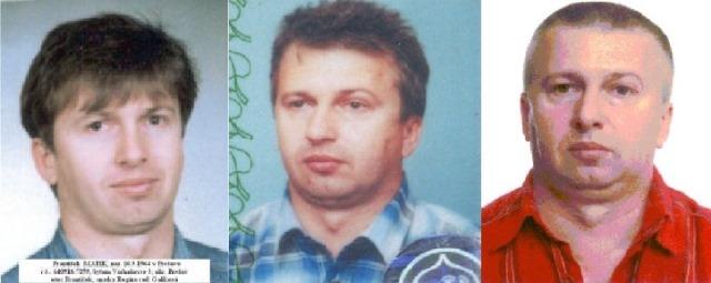 Na kombinovanej snímke sprava dve fotografie z falošných dokladov, tretia je aktuálna fotografia polície Františka Matíka