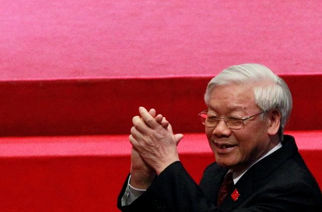 Na snímke generálny tajomník vietnamskej Komunistickej strany Nguyen Phu Trong