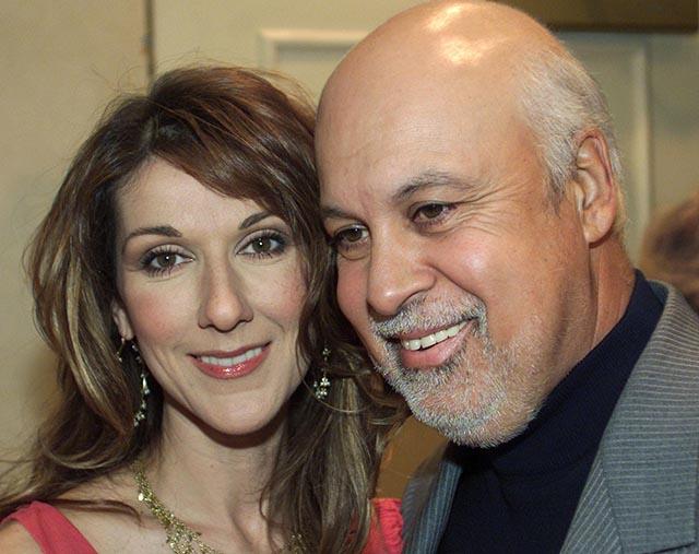 Na snímke speváčka Céline Dionová a jej zosnulý manžel René Angélil
