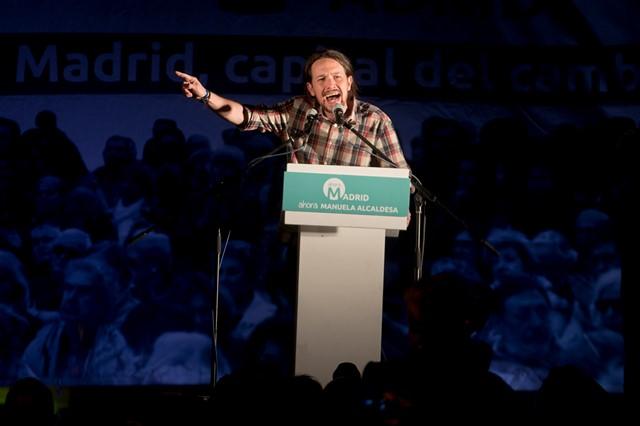 Na snímke líder španielskeho ľavicového hnutia Podemos (Môžeme)  Pablo Iglesias