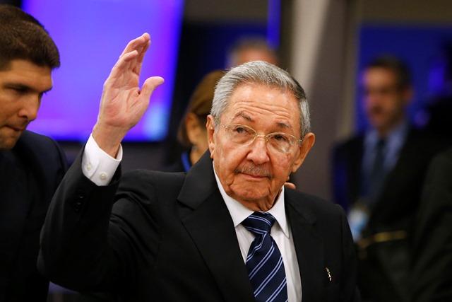 Na snímke kubánsky prezident Raúl Castro