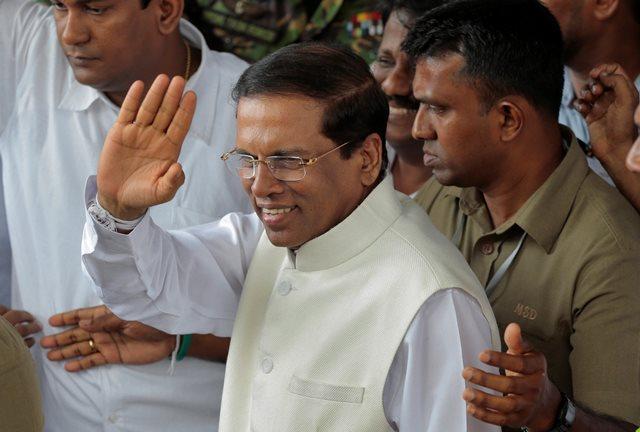 Na snímke srílanský prezident Maithripala Sirisena