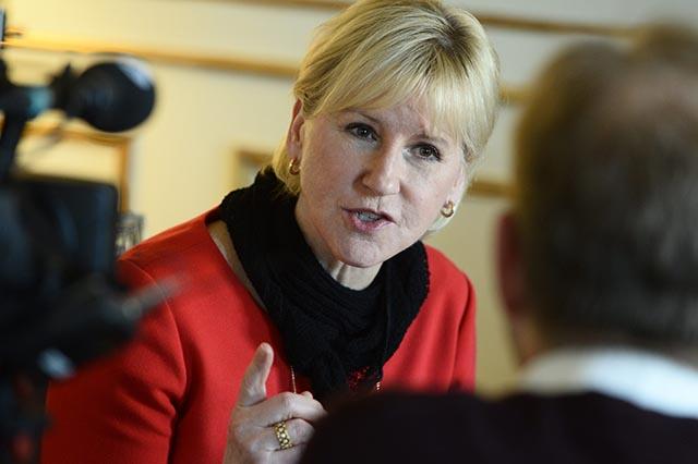 Na snímke švédska ministerka zahraničia Margot Wallströmová