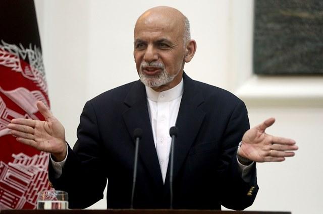 Na snímke afganský prezident Ašraf Ghaní