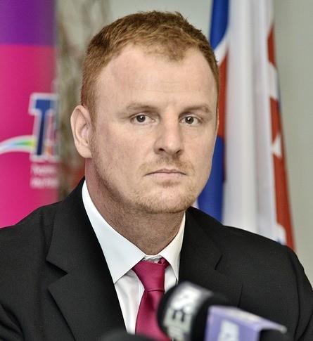 Na snímke predseda strany Tomáš Hudec