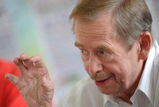 Na snímke Václav Havel