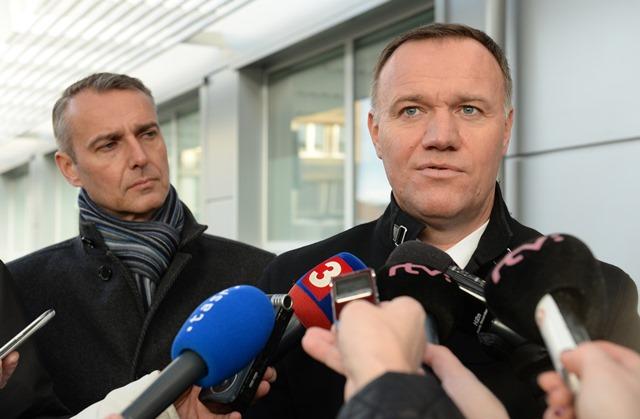 Na snímke minister zdravotníctva  Viliam Čislák a predseda výboru pre zdravotníctvo Richard Raši