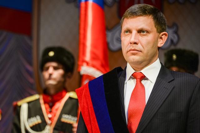Na snímke íder samozvanej Doneckej ľudovej republiky (DĽR) Alexandr Zacharčenko