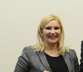 Na snímke srbská vicepremiérka Zorana Mihajlovičová