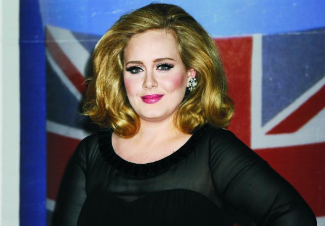 Na snímke britská speváčka a skladateľka Adele