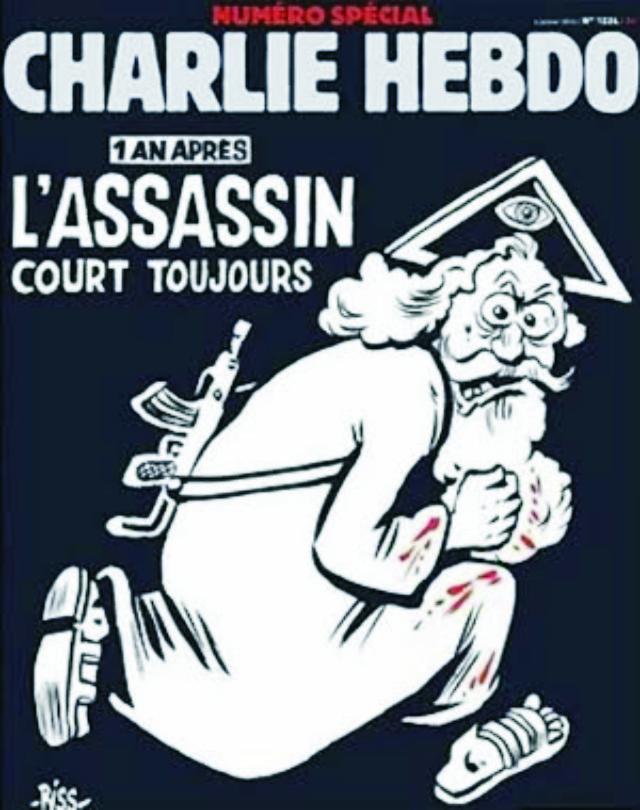 Známy francúzsky satirický časopis, ktorý sa preslávil karikatúrami, tentokrát zosmiešnil kresťanského Boha