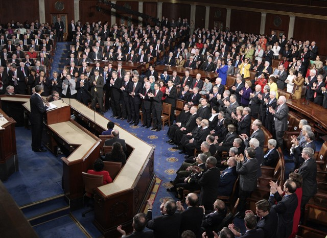 Na snímke zasadanie amerického Kongresu