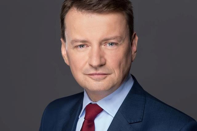 Na snímke poľský minister vnútra Mariusz Blaszczak
